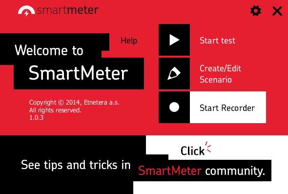 smartmeter.io welcome screen